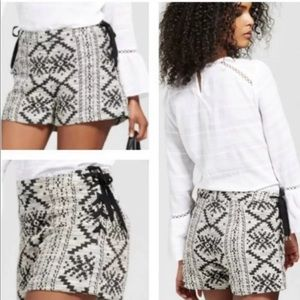 Who What Wear Aztec Print Shorts